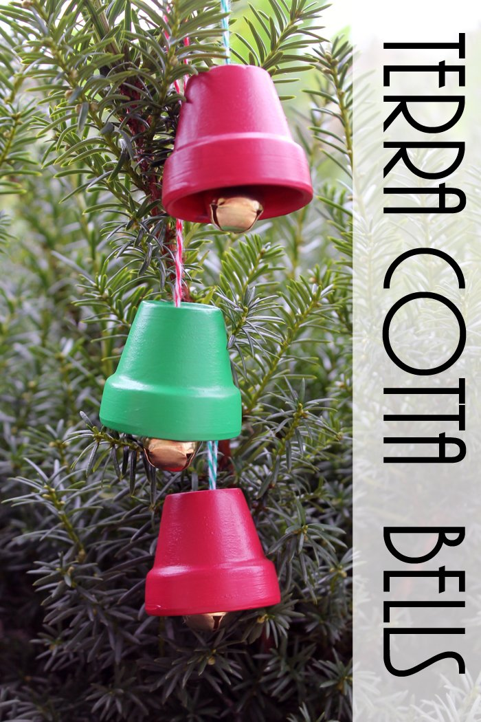 Terra cotta bells diy christmas ornaments the country for Homemade tree decorations