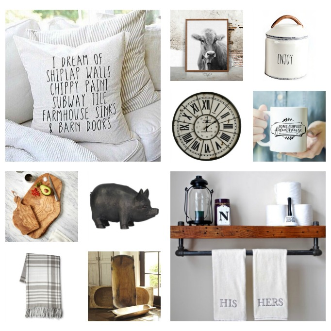 Farmhouse style gift ideas for those that love Fixer Upper! Perfect for the holidays!