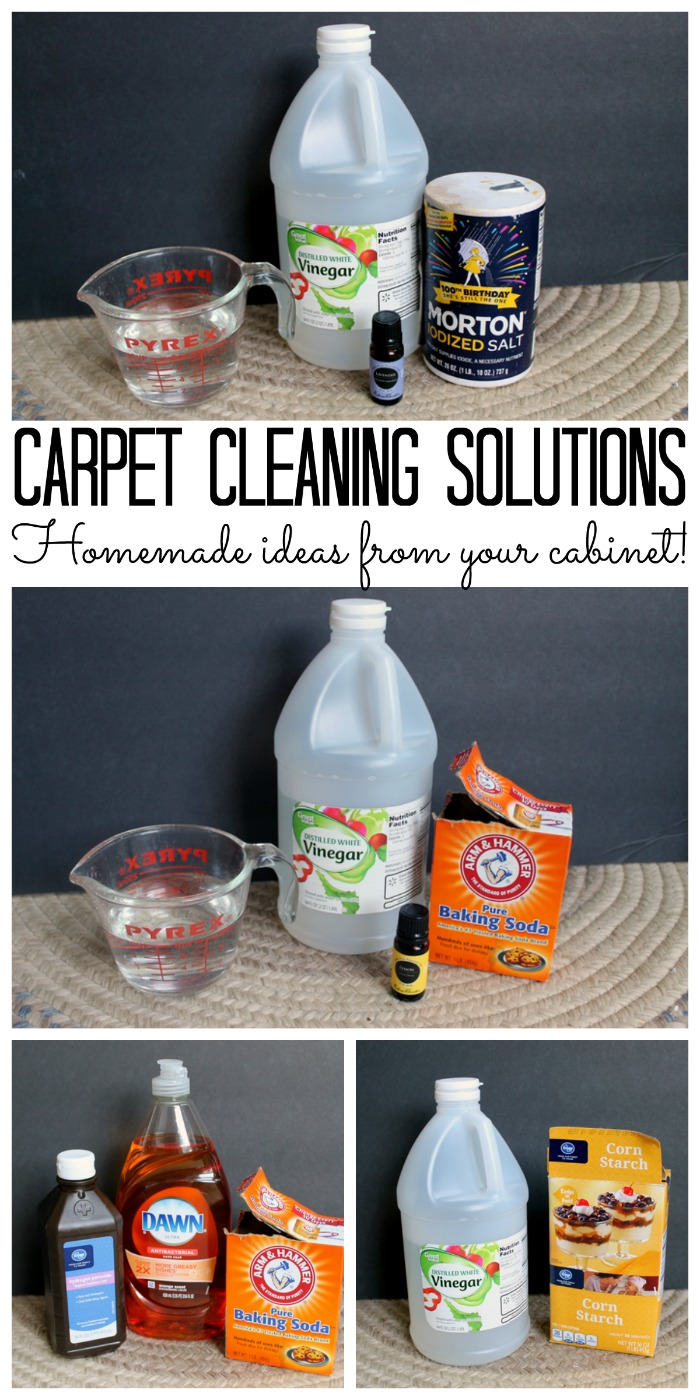 Homemade carpet cleaning solutions that you can find in your cabinet! Most are all natural!