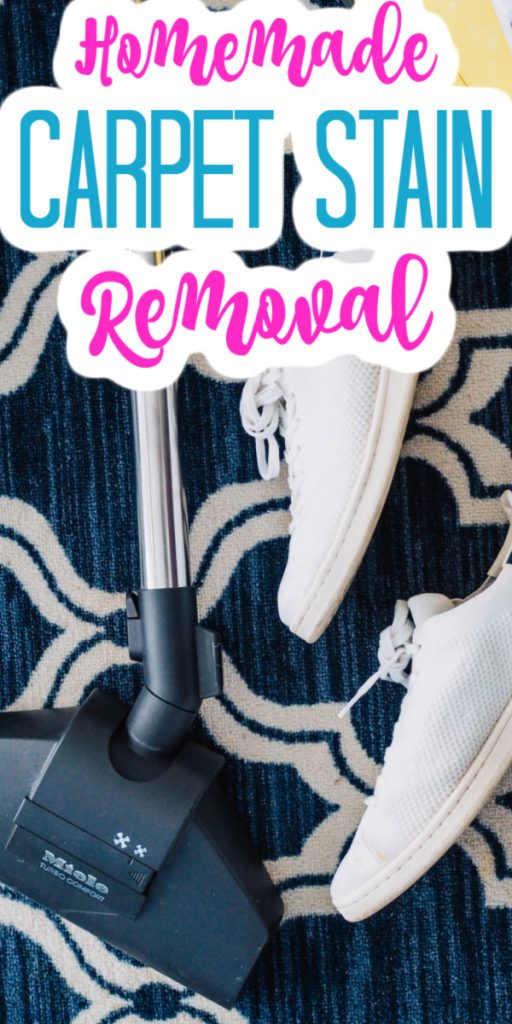 Give these homemade solutions a try when you need to remove a stain from your carpet! They really work and will leave your home cleaner every time you use them! #cleaner #cleaning #carpets #carpetcleaner #carpetstains