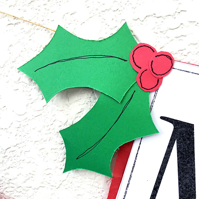 Make and add holly to your banner