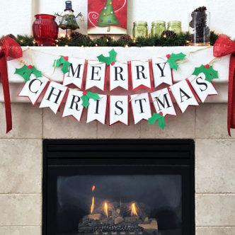 DIY Christmas Banner with Free printable