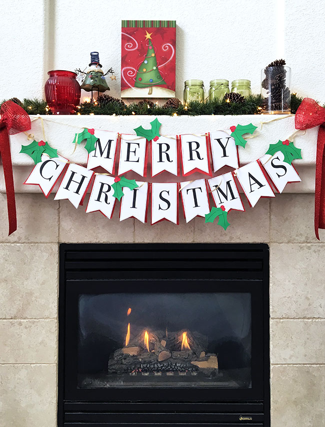 picture regarding Merry Christmas Banner Printable identified as Do it yourself Xmas Banner with No cost Printable - The Place Stylish