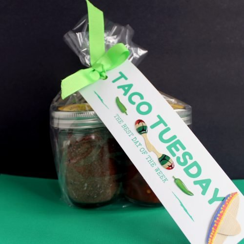 Taco Lover Gift Idea - a fun gift in a jar perfect for those hard to buy for people on your list!