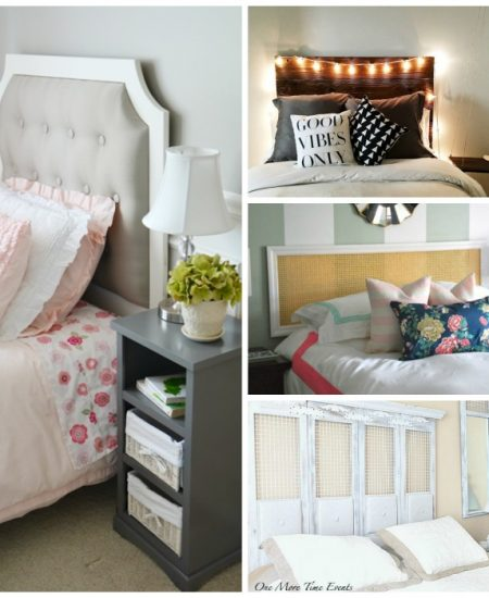 Unique headboard ideas for your home! DIY ideas to spruce up your bedroom on a budget!