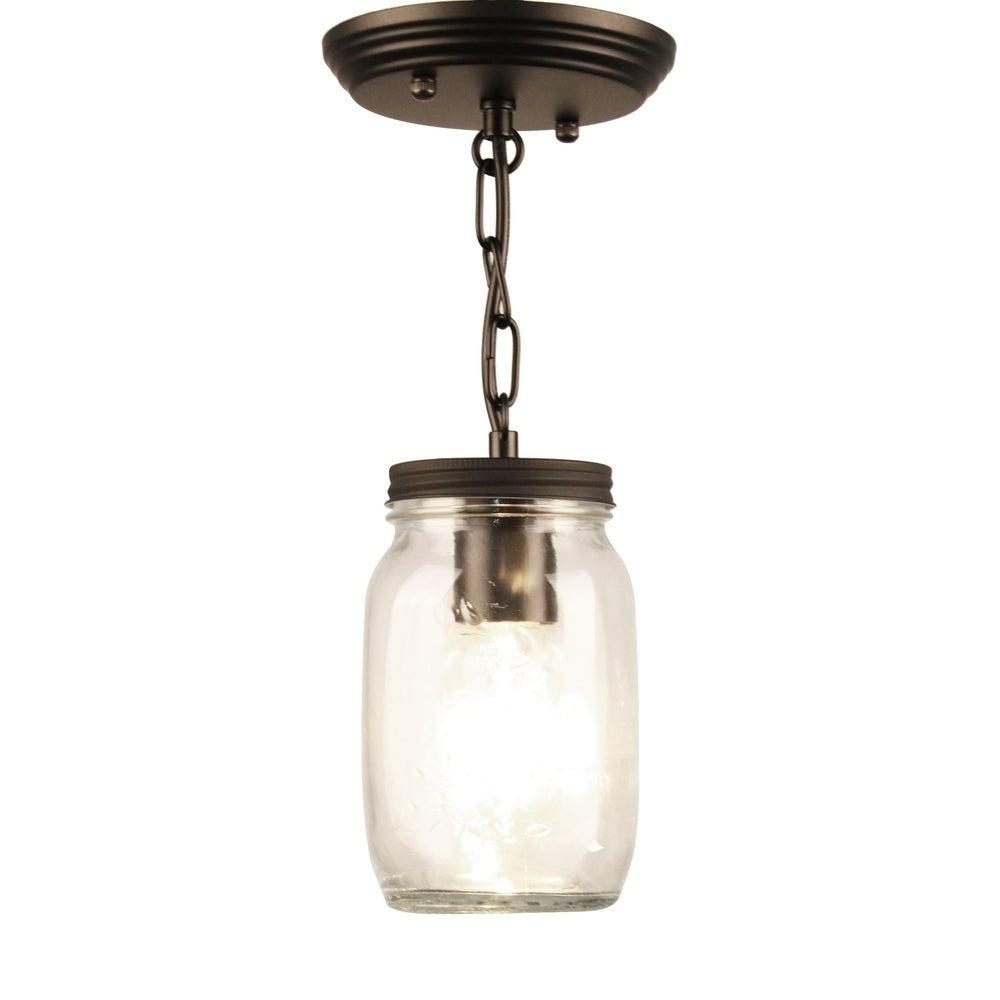 mason jar light on a chain