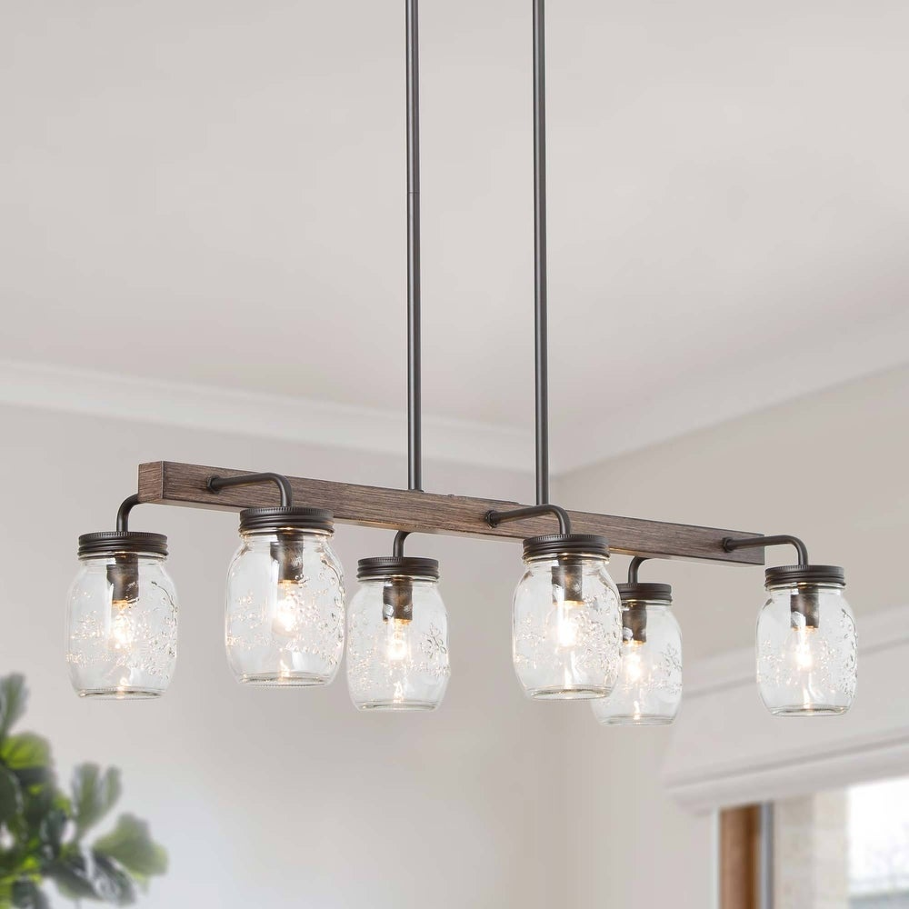 mason jar beam hanging light fixture