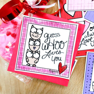 Cute Owl Love Lunch Notes