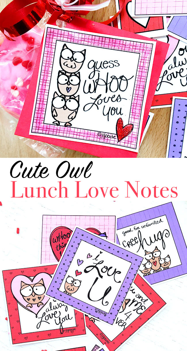 DIY Cute Owl Love Lunch Notes