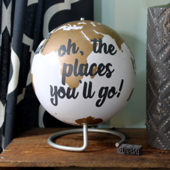 Dr. Seuss Quote Globe – an easy DIY project!