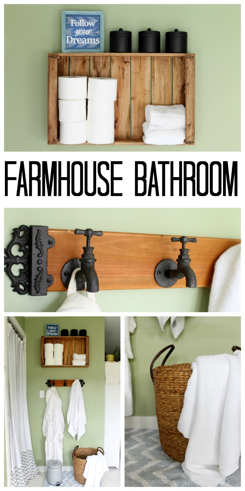 Rustic Farmhouse Bathroom Ideas - The Country Chic Cottage