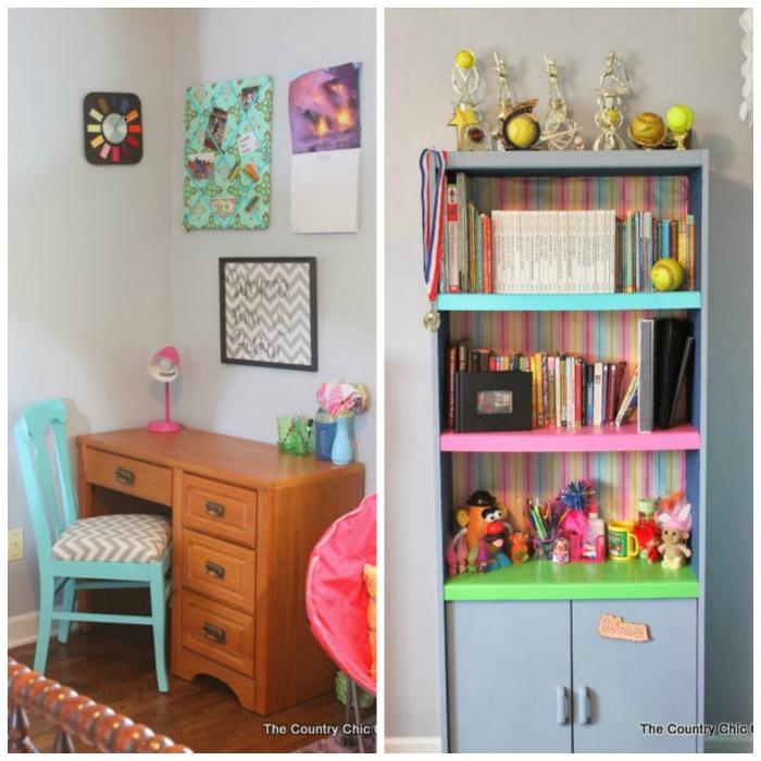 teen girl desk before