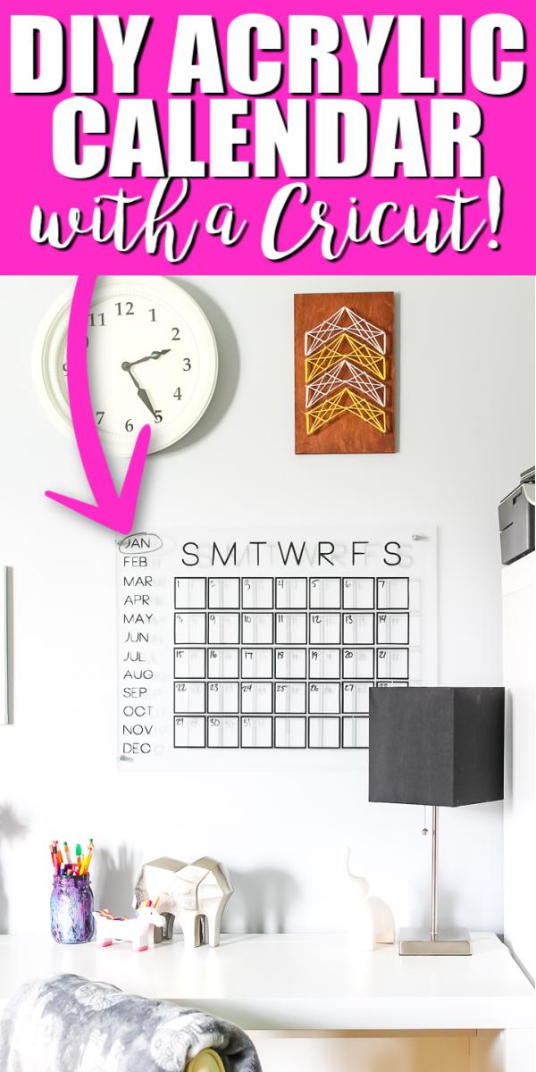 handmade acrylic calendar