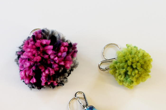 Learn how to make a pom pom key chain with a pom pom maker!
