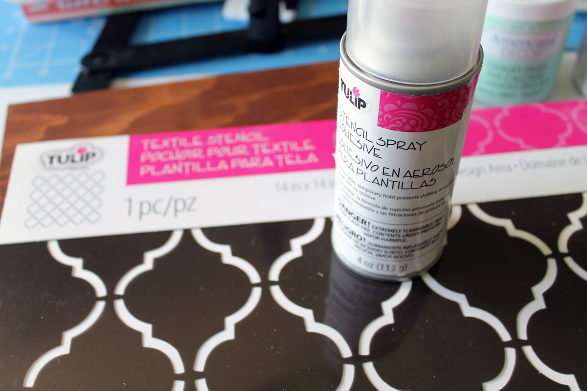 Stencil spray to easily add a pattern to your magnetic knife blog.