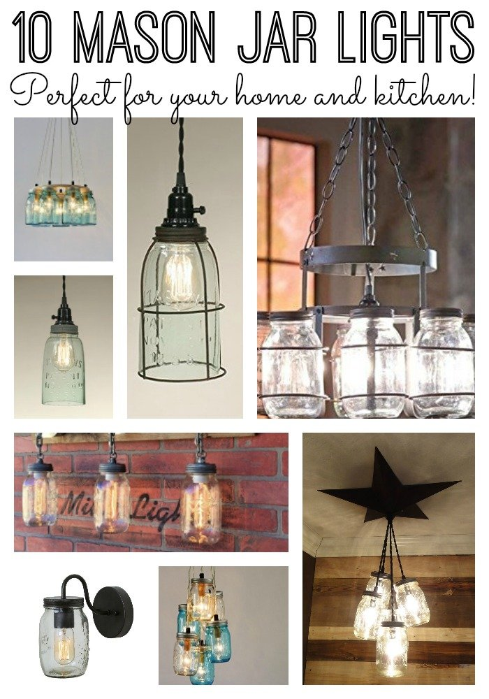 Mason Jar Kitchen Lights For Your Home The Country Chic Cottage
