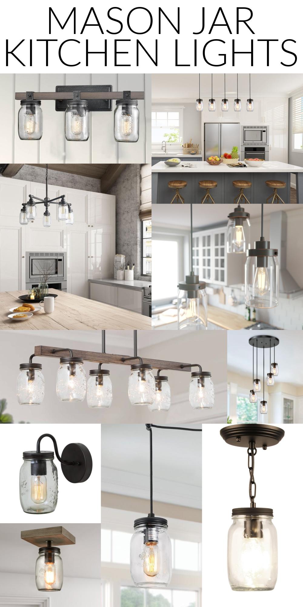 mason jar kitchen lights