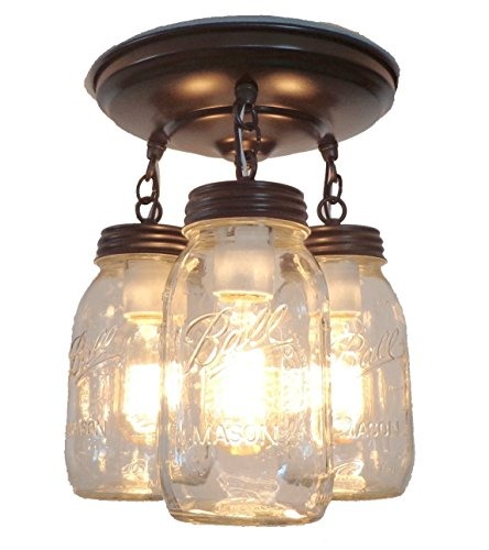 Mason Jar Kitchen Lights   Great Idea For Adding Some Farmhouse Flair To  Your Home!