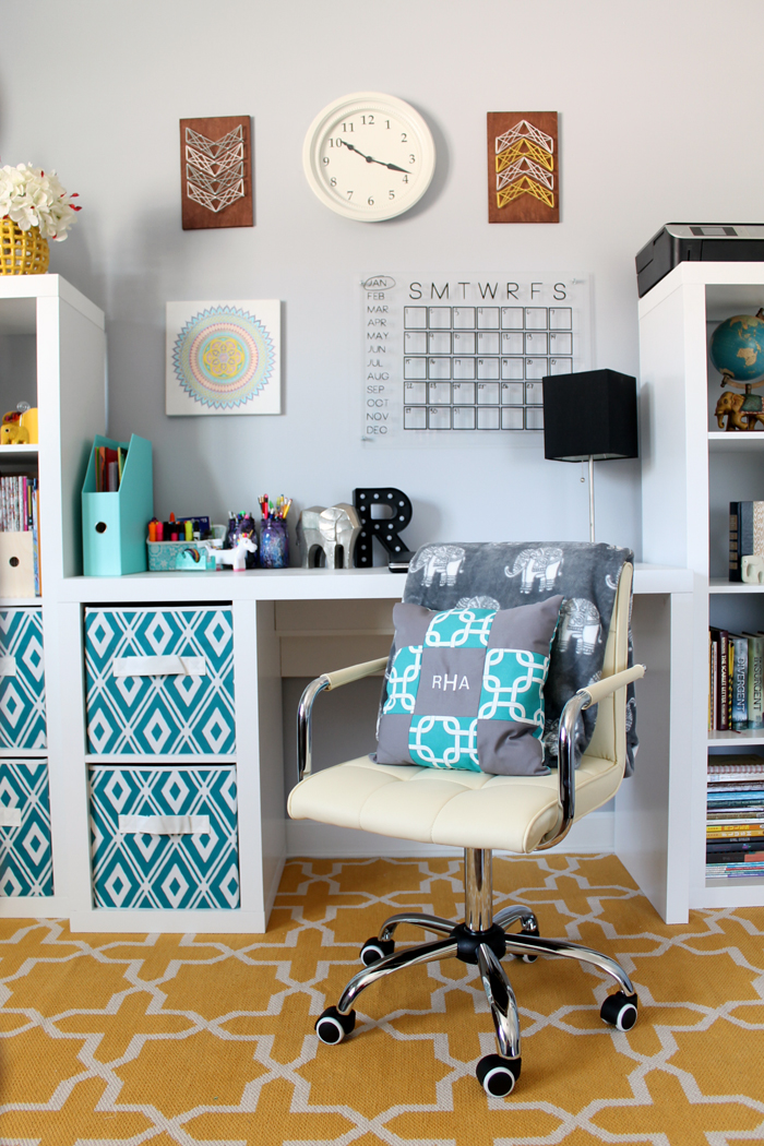 Organized Desk Area For A Teen Room The Country Chic Cottage