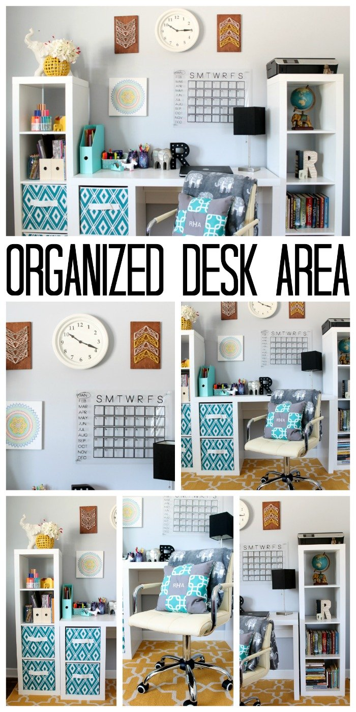 This organized desk area is perfect for a teen room! Get great ideas for organizing : teen-room-pictures - designwebi.com