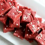 Red Velvet Fudge Recipe - perfect for Valentine's Day or Christmas!