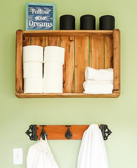 farmhouse bathroom storage