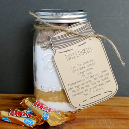 Twix Cookie Mix in a Jar - recipe and gift idea for anytime of the year!