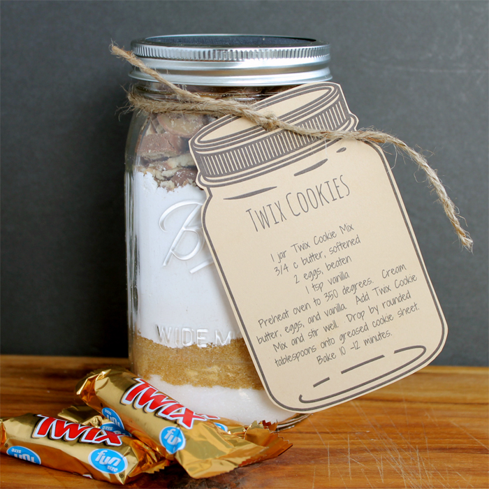 Twix Cookie Mix In A Jar