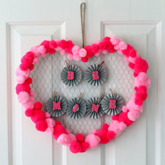 Quick Valentine's Day Wreath Idea