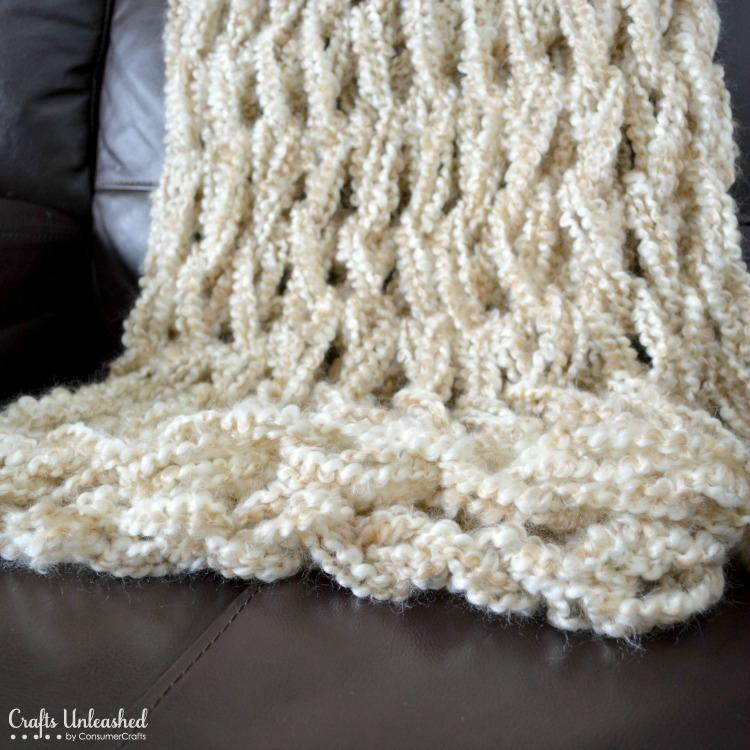 Arm knitting a blanket