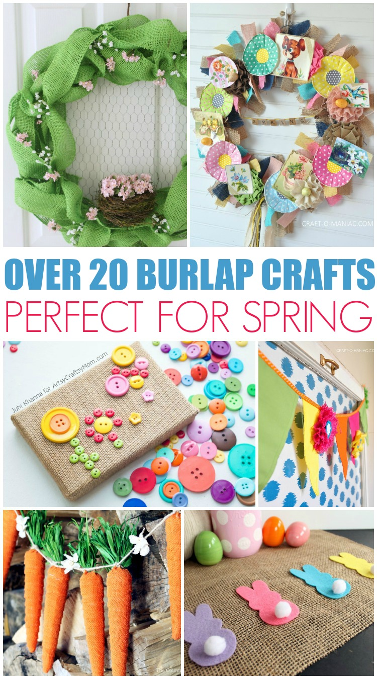 These spring burlap crafts are perfect for your home! Great ideas for spring and Easter!
