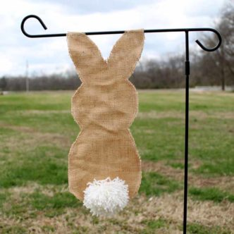 Burlap Bunny Flag for Your Garden