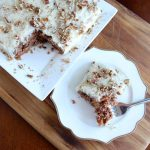 Make this carrot wacky cake recipe! No eggs, milk, or butter! You won't believe how good it is!