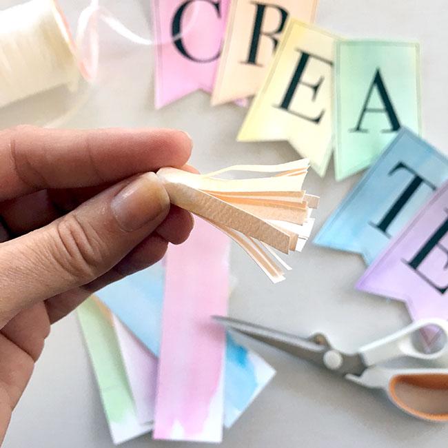 Make cute paper tassels