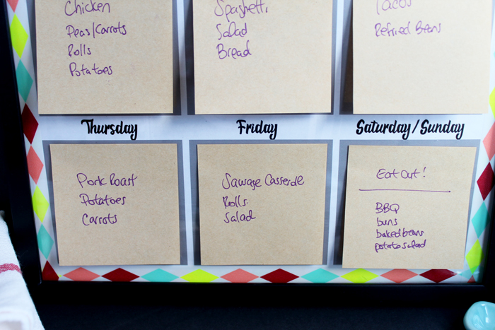 Dollar Store Meal Planner for Your Home - make this in minutes for just a few dollars and organize your meals and kitchen!
