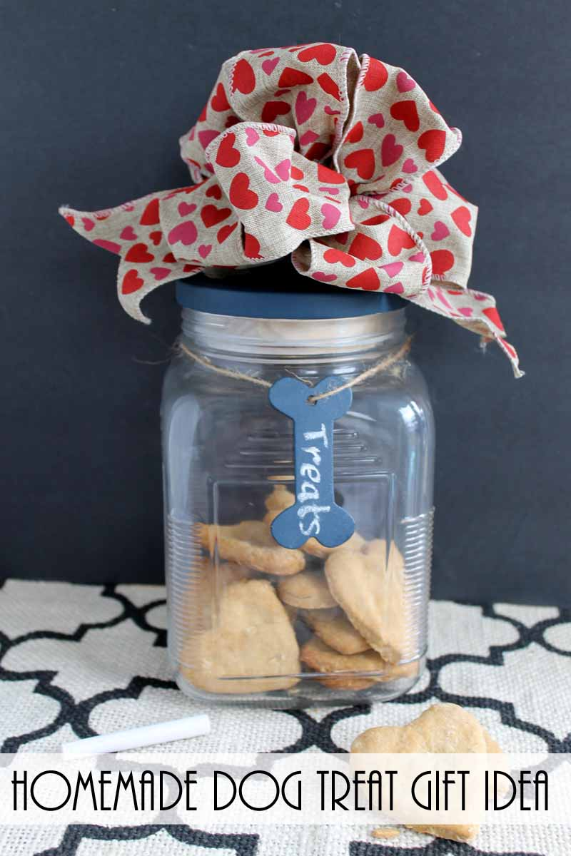 This dog treat recipe and gift idea is perfect for your furry friend!