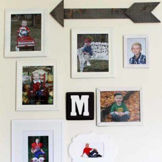 Rustic Wood Arrow - getting a barnwood look with grey stain for a rustic, farmhouse feel!