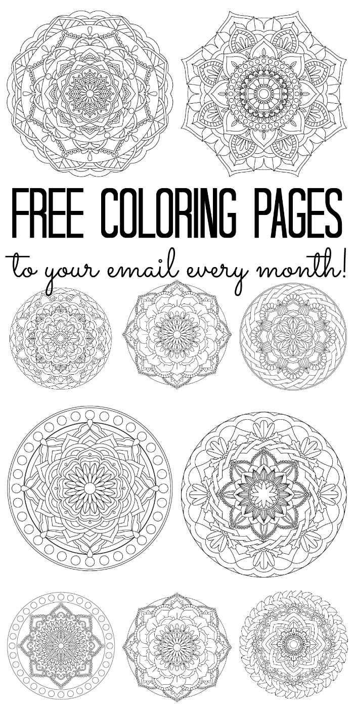Free adult color pages delivered to your inbox every month! Sign up today for free!