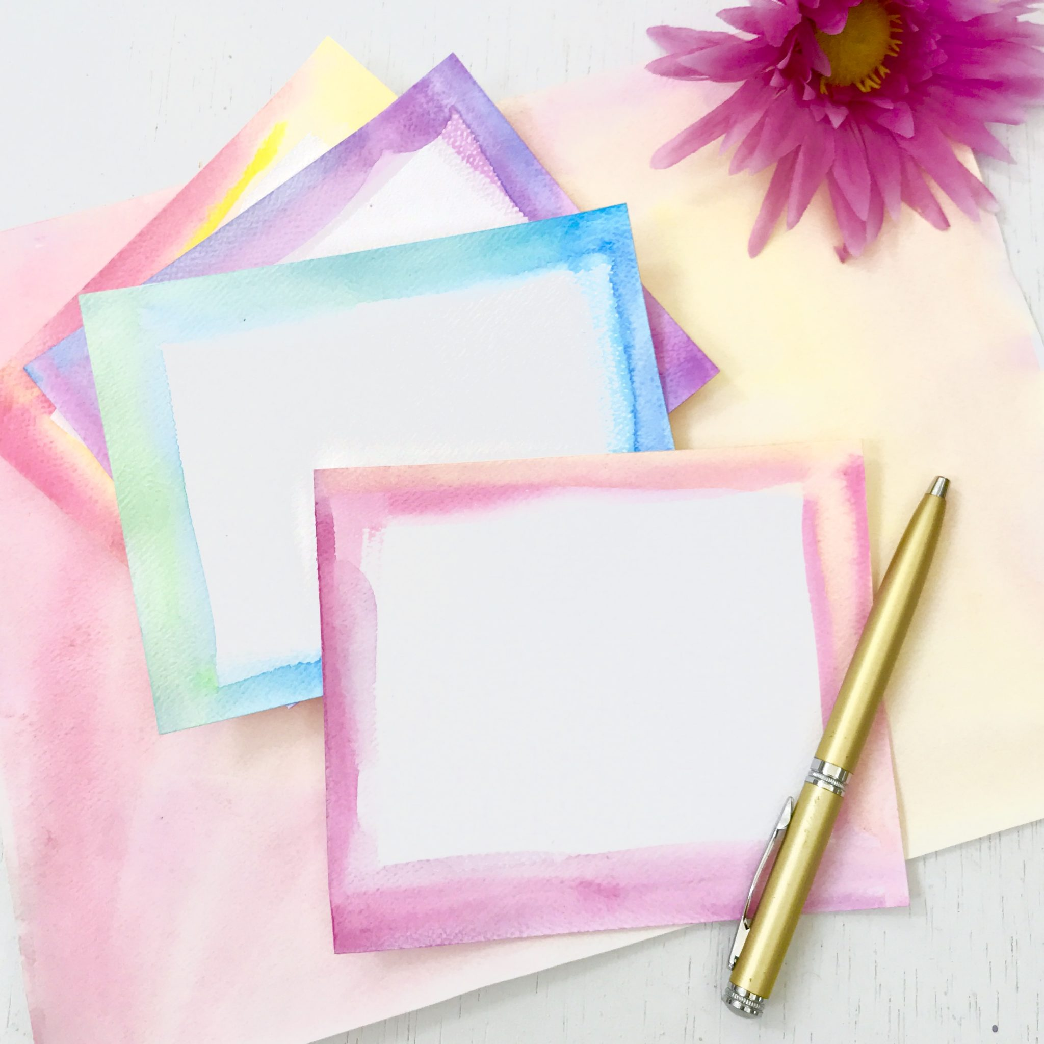 Watercolor stationary