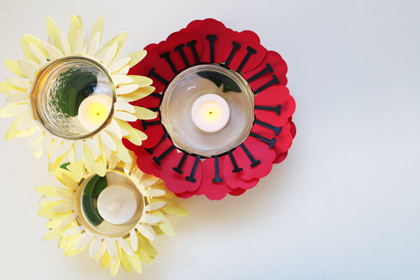 Floating floral candles