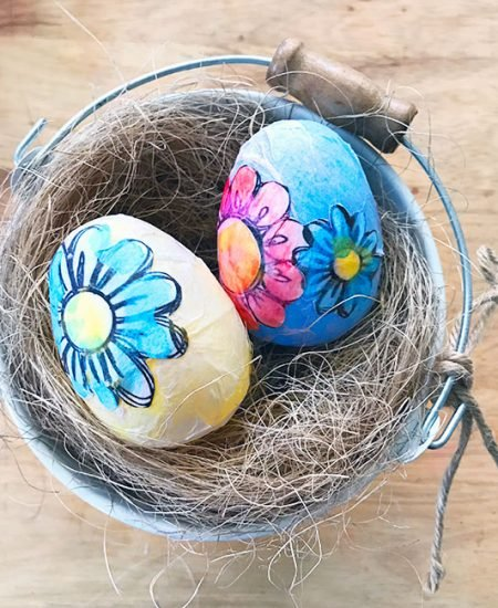 Coloring page decoupage Easter Eggs