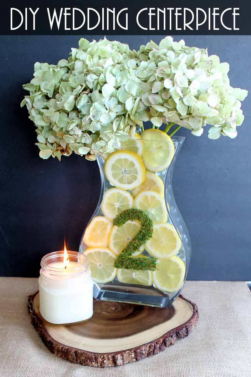 Simple wedding centerpieces with lemons the country chic cottage simple wedding centerpieces with lemons a quick and easy diy wedding project junglespirit Images