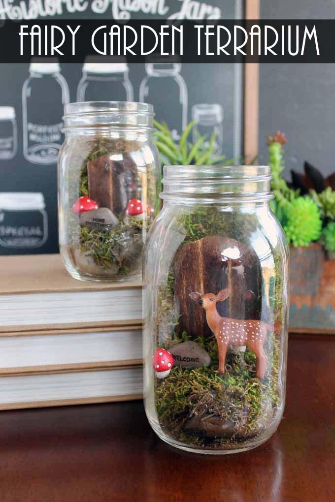 Make This Fairy Garden Terrarium From A Mason Jar! A Quick And Easy Craft  Project