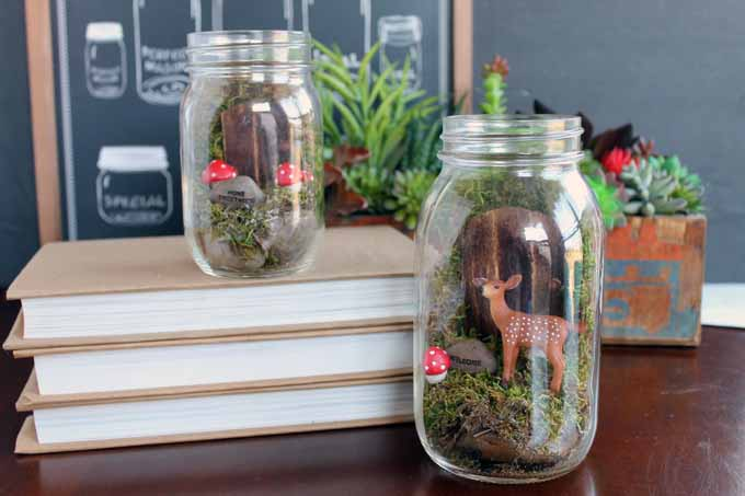 make this fairy garden terrarium from a mason jar a quick and easy craft project - Fairy Garden Terrarium