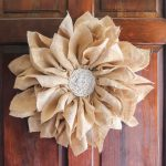 DIY Flower Wreath Made From Burlap