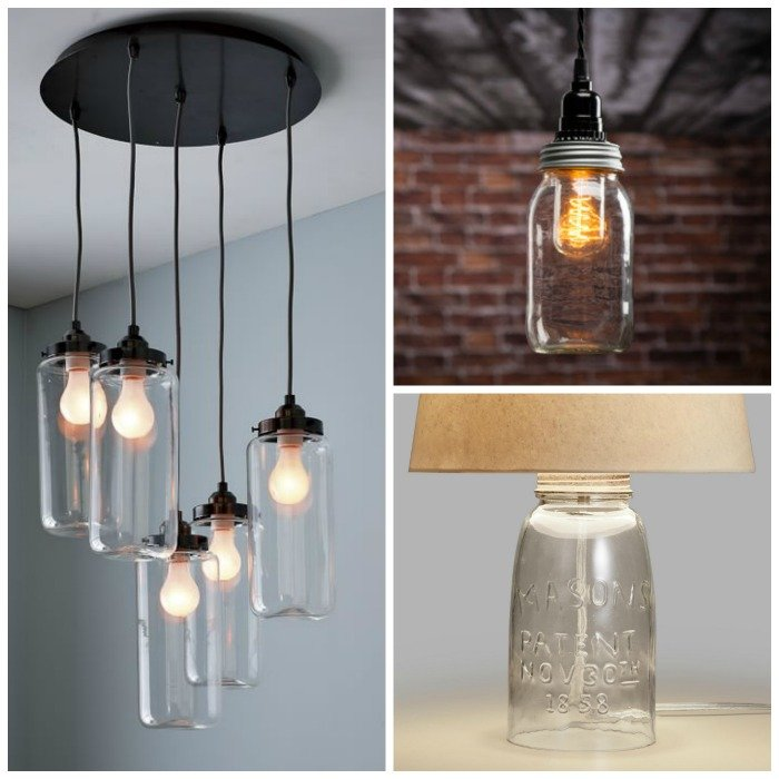 mason jar lighting fixtures for your rustic home the country chic cottage. Black Bedroom Furniture Sets. Home Design Ideas