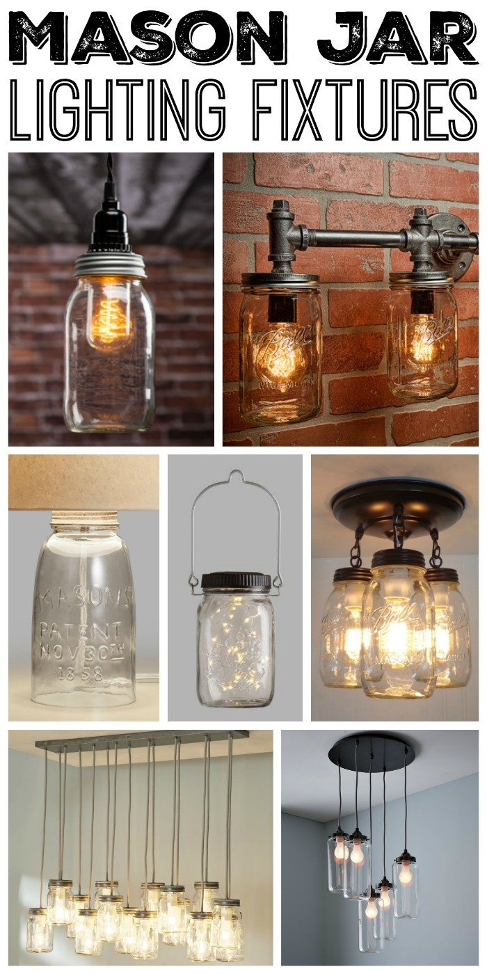 Mason jar lighting fixtures for your rustic home the country great mason jar lighting fixtures for your rustic home arubaitofo Gallery