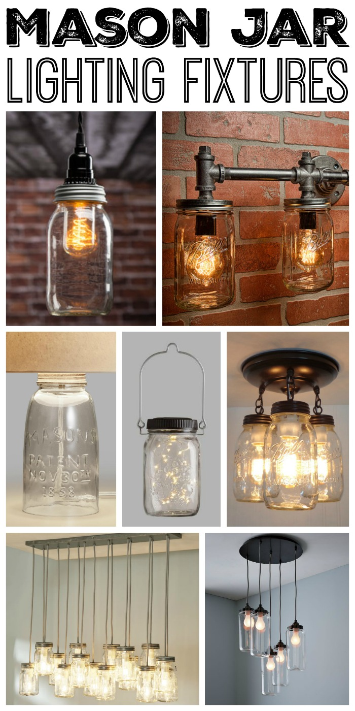 Mason jar lighting fixtures for your rustic home the country chic great mason jar lighting fixtures for your rustic home arubaitofo Choice Image