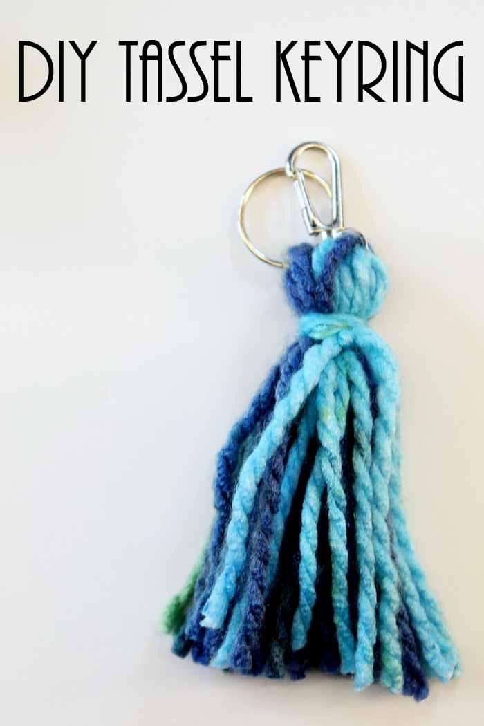 DIY tassel keychain craft pin image