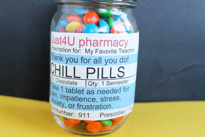 chill pill candy jar